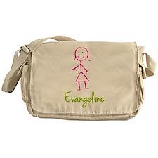 Evangeline-cute-stick-girl.png Messenger Bag