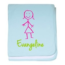 Evangeline-cute-stick-girl.png baby blanket