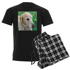 Yellow Lab in Meadow Pajamas