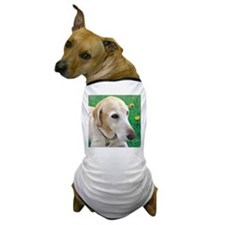 Yellow Lab in Meadow Dog T-Shirt