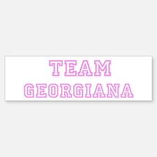 Pink team Georgiana Bumper Bumper Bumper Sticker