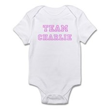 Pink team Charlie Infant Bodysuit