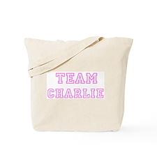 Pink team Charlie Tote Bag