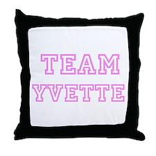 Pink team Yvette Throw Pillow