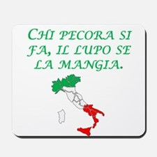 Italian Proverb Sheep Wolf Mousepad