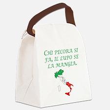 Italian Proverb Sheep Wolf Canvas Lunch Bag
