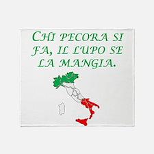 Italian Proverb Sheep Wolf Throw Blanket