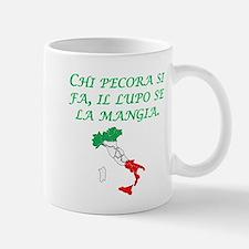 Italian Proverb Sheep Wolf Mug