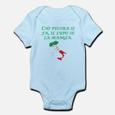 Italian Proverb Sheep Wolf Infant Bodysuit