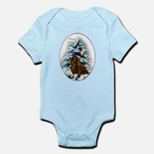 Field Spaniel Christmas Baby Light Bodysuit