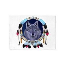 Dream Wolf 5'x7'Area Rug