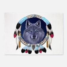 Dream Wolf 5'x7'Area Rug