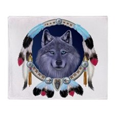 Dream Wolf Throw Blanket