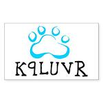 K9LUVR Rectangle Sticker
