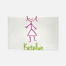 Katelyn-cute-stick-girl.png Rectangle Magnet