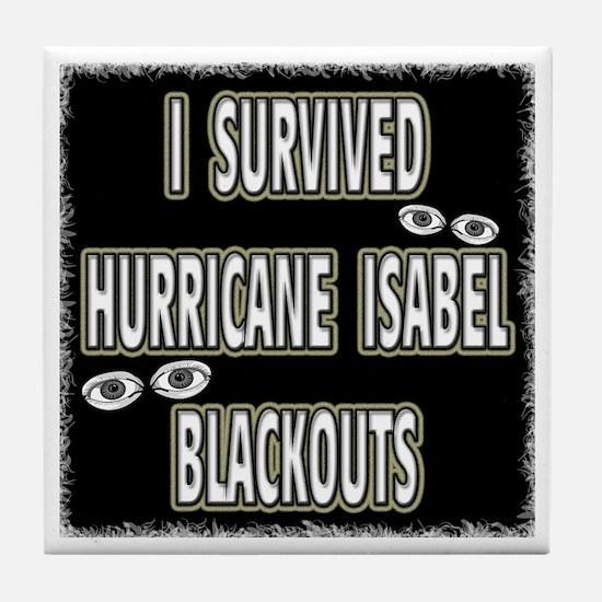 Isabel Blackouts Tile Coaster