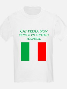 Italian Proverb Think T-Shirt