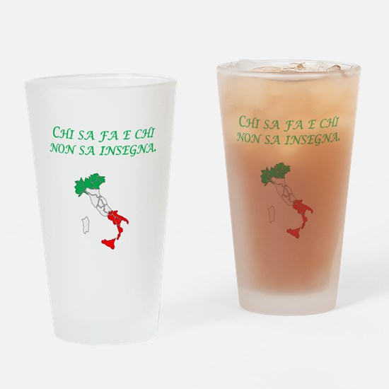 Italian Proverb Teach Drinking Glass