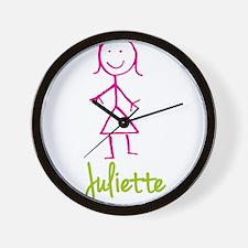 Juliette-cute-stick-girl.png Wall Clock