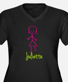 Juliette-cute-stick-girl.png Women's Plus Size V-N