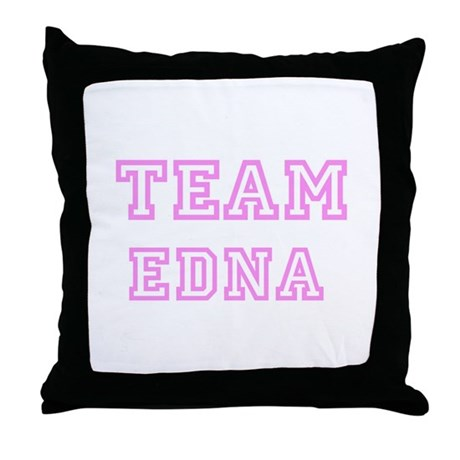 Pink team Edna Throw Pillow