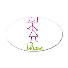 Liliana-cute-stick-girl.png Wall Decal