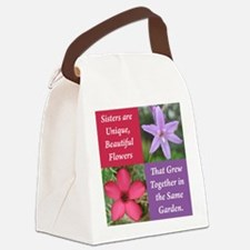 Flower_4Square_PinkPurple.png Canvas Lunch Bag