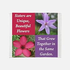 Flower_4Square_PinkPurple.png Throw Blanket