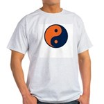 Navy Blue and Orange Ash Grey T-Shirt