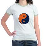 Navy Blue and Orange Jr. Ringer T-Shirt