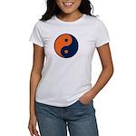 Navy Blue and Orange Women's T-Shirt