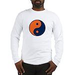 Navy Blue and Orange Long Sleeve T-Shirt
