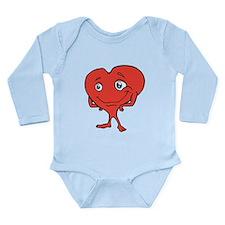 red heart Long Sleeve Infant Bodysuit