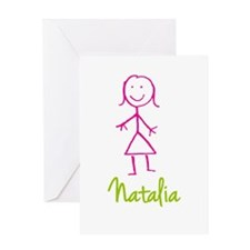 Natalia-cute-stick-girl.png Greeting Card