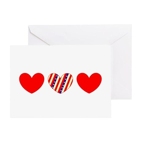 Red Blue Valentines Day Heart 23 Greeting Card