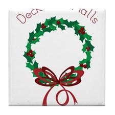 Deck The Halls Tile Coaster