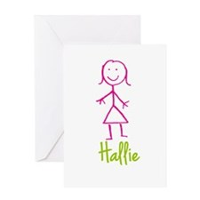 Hallie-cute-stick-girl.png Greeting Card