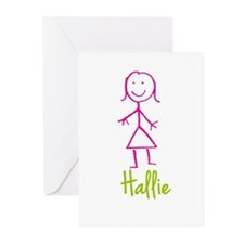 Hallie-cute-stick-girl.png Greeting Cards (Pk of 1