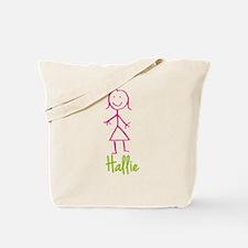 Hallie-cute-stick-girl.png Tote Bag