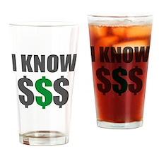 IknowMoney Drinking Glass