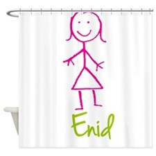 Enid-cute-stick-girl.png Shower Curtain