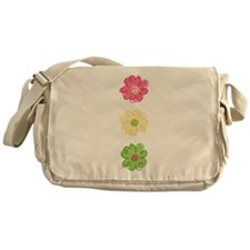 Colorful Flowers Messenger Bag