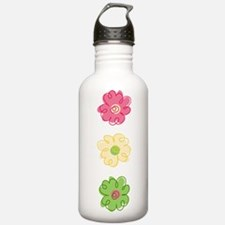 Colorful Flowers Water Bottle