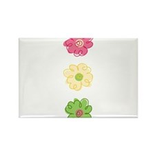 Colorful Flowers Rectangle Magnet