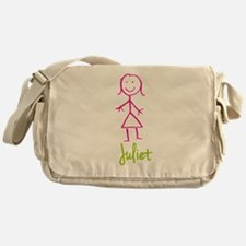 Juliet-cute-stick-girl.png Messenger Bag
