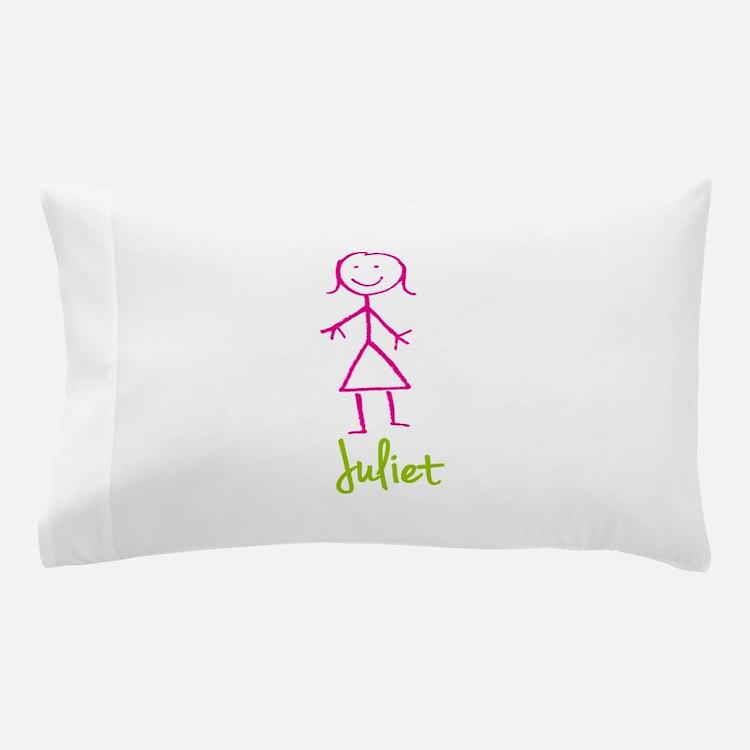 Juliet-cute-stick-girl.png Pillow Case