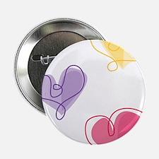 """Three Hearts 2.25"""" Button"""