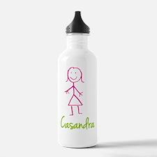 Casandra-cute-stick-girl.png Water Bottle