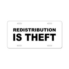 Redistribution is theft.png Aluminum License Plate