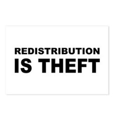 Redistribution is theft.png Postcards (Package of